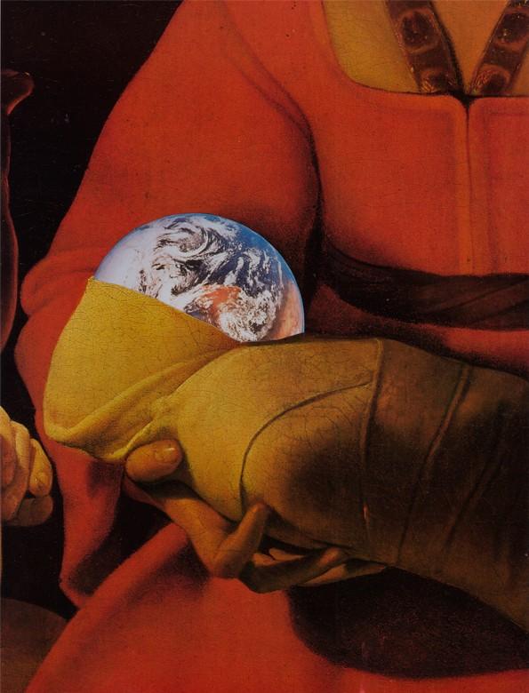 Terre et Mère collage par Herbot
