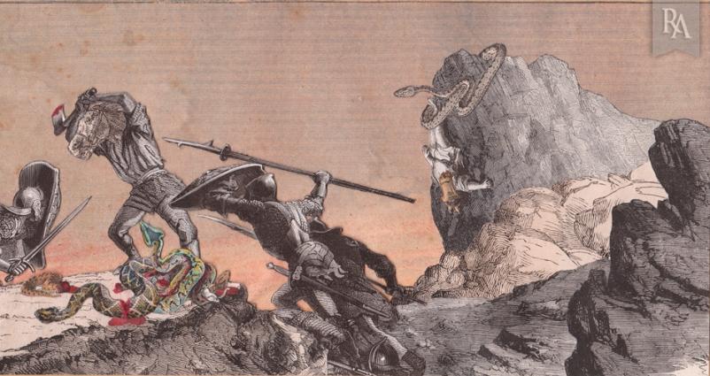 La Vengeance collage René Apallec